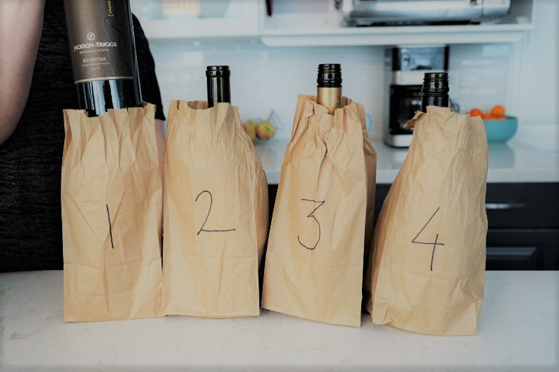 brown bag wine tasting party secret