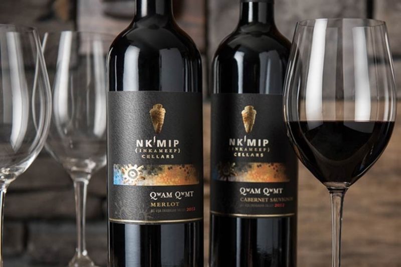 red wine and icewine tasting event at nkmip cellars