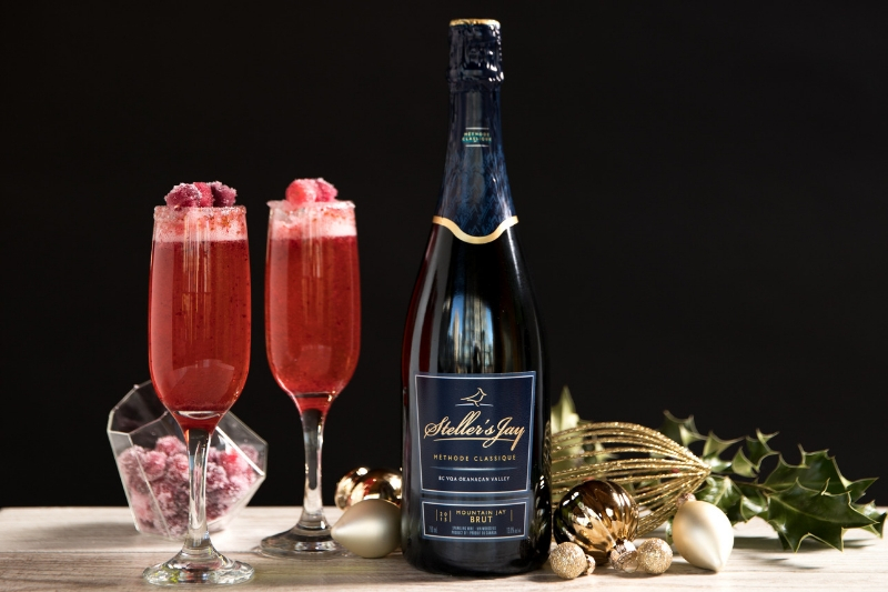 sparkling cocktail recipe cranberry and stellers jay brut