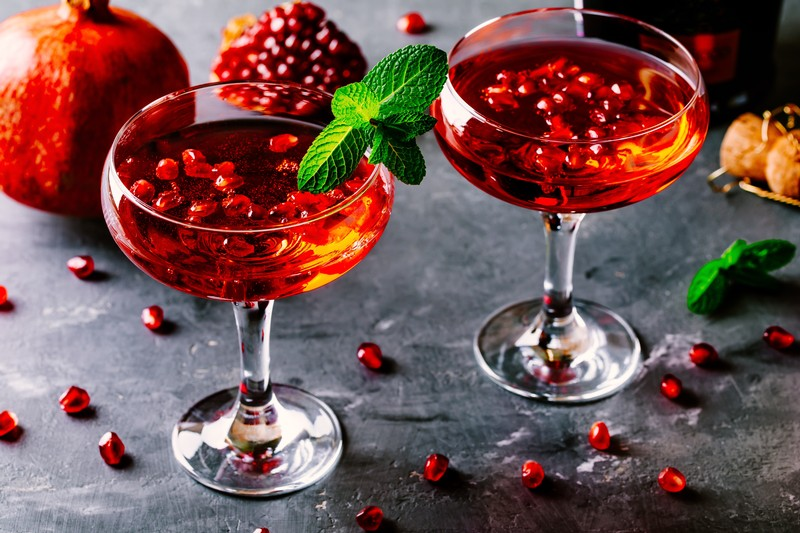 Great Estates Okanagan recipe for pomosa pomegranate mimosa
