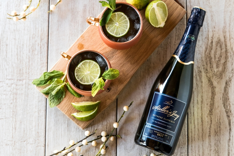 alternative to a moscow mule with sparkling wine