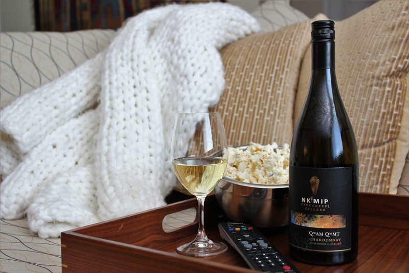 Chardonnay pairs with popcorn and a movie