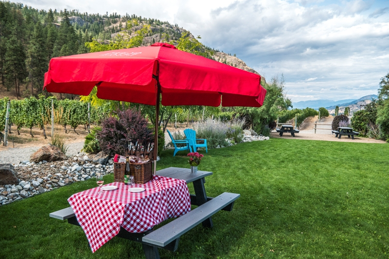 licensed picnic area at see ya later ranch in okanagan falls