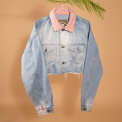 The real find - reworked cropped denim jacket
