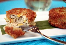 Crab Cakes With Corn & Fennel