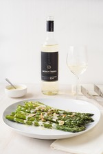 Grilled Asparagus with Goat Cheese Aioli