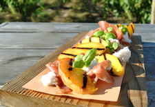 Peach And Prosciutto Salad With Ricotta & Basil