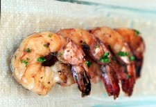 Soy Stained Prawns