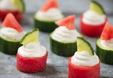 Watermelon & Cucumber Goat Cheese Sliders